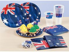 Disposable Australia themed tableware