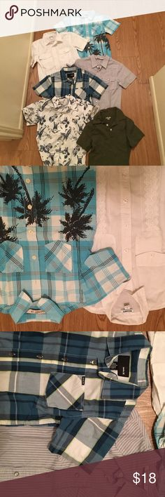 Bundle of 6 collared shirts Boy's small (6-7) collared shirts from Hurley, Old Navy, and Cherokee. All in good condition Old Navy Shirts & Tops