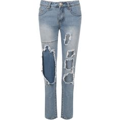 Bria Stonewash Skinny Jeans ($45) ❤ liked on Polyvore featuring jeans, blue, ripped blue jeans, destroyed denim skinny jeans, ripped jeans, distressed skinny jeans and torn skinny jeans