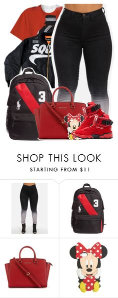 """School Set #11"" by queenie-unique ❤ liked on Polyvore featuring 3M, Ralph Lauren Black Label, Michael Kors and Wet Seal"