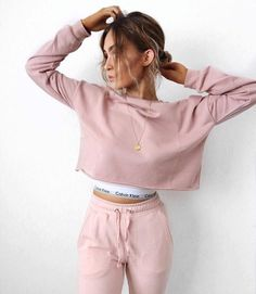 1c97e3e35d56c A girl and her sweats on Sundays are an endless love affair 💖✨ . Picture  by ✨ Hoodie  Missy Empire Sports bra  Calvin Klein Pants  Missguided