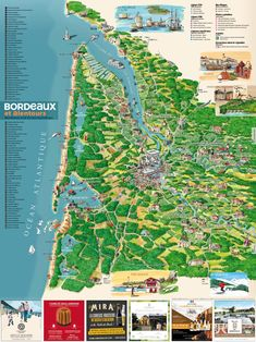 Carte Bordeaux Et Ses Environs : carte, bordeaux, environs, Bordeaux, Ville,, Histoire, Environs, Ideas, Bordeaux,, France,, Aquitaine