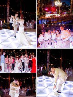 Sparklers are a great idea! destination wedding secrets cancun www.jaimeglez.com