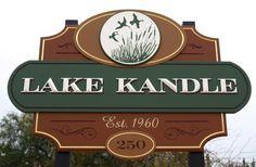 Lake Kandle Campground Sign | Danthonia Designs