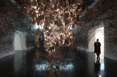 Dialogues by Chiharu Shiota, New Art Gallery Walsall, Walsall / UK. Photo by Jonathan Shaw.