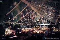 Clear wedding tent...what a great idea!