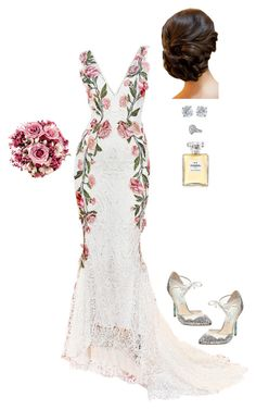 """Journey's End in Lovers Meeting"" by mrs-snow ❤ liked on Polyvore featuring Marchesa, Betsey Johnson, Tiffany & Co. and Chanel"