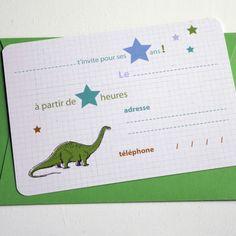 papeterie cartons d 39 invitation dinosaure anniversaire enfant invitati. Black Bedroom Furniture Sets. Home Design Ideas