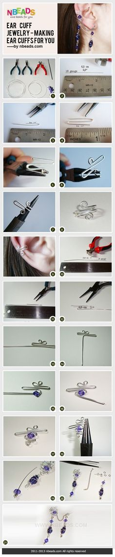 ear cuff jewelry - making ear cuffs for you - http://www.diyhomeproject.net/ear-cuff-jewelry-making-ear-cuffs-for-you