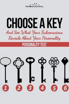 The subconscious tells us a lot of things and we don't usually hear them. Choose A Key And See What Your Subconscious Reveals About Your Personality Psychology Facts Personality Types, Personality Test Quiz, Psychology Memes, Color Psychology, Best Personality Test, Birth Month Personality, True Colors Personality, Abnormal Psychology, Psychology Books