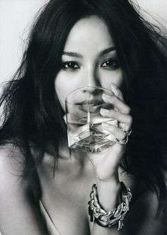 The photo that inspired our main, introductory shot for Glamour Stoned, which of course became a completely different picture in the process of actualization. (K-pop artist Hyori Lee)