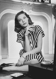 Lauren Bacall on the set of To Have and Have Not (1944)
