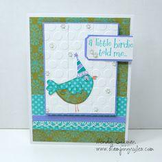 Card CTMH June SOTM Bird Wendy Coffman