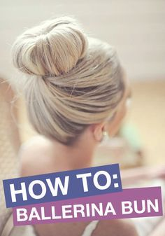 A fun and stylish bun to try out