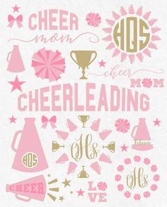 Svg cheerleader Svg Cheer Mom Svg Cheer Svg by HighQualitySVG