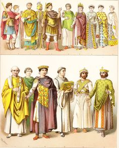 byzantine clothes for men pictures | Byzantine clothing - chromolitograph ancient look men 3