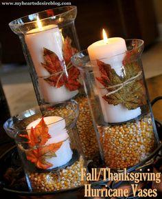 Fall hurricane vases