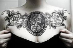 100 Ladies Chest Tattoos