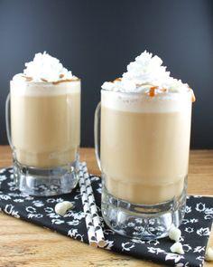 white chocolate-caramel frappuccino