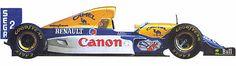 damon hill 1993 | Williams-Renault FW15C