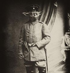 magnificient photoshop skills: old-time Master Yoda