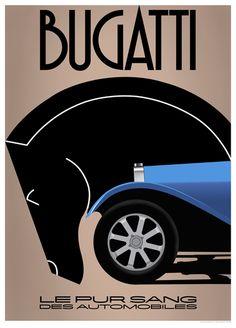 BUGATTI, LE PUR SANG DES AUTOMOBILES POSTER