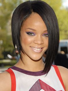 Rihanna's hairstyle puts a new twist on the traditional bob.  #VisibleChangesSalons love it!