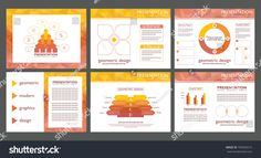 Financial report infgraphics elements. Modern abstract geometric powerpoint presentation backgrounds. Marketing slide templates, layouts, vectors.