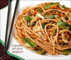 Stir fried spaghetti is one of my way of making spaghetti easily the way we prepare fried rice.