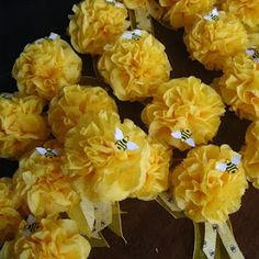 Honeybees Tissue Paper Poms
