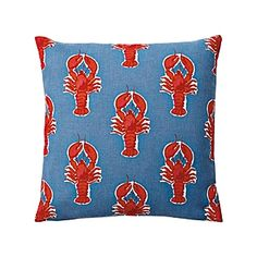 Lobster Outdoor Pillow Cover – Chambray | Serena & Lily