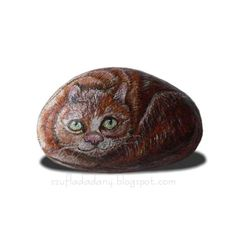 kot/malowany kamień szufladadany/blogspot/com