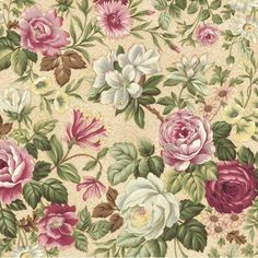 Arabella Rose Primrose Ivory Mauve Magenta Burgundy Floral Quilt Fabric 1311 4C ..M.Taylor: Would love to use some of this in a crazy quilt using some plain with embroidery on seams and use some embroidering on the design of the fabric itself