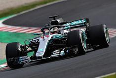 Mercedes W09, Lewis Hamilton, Barcelona test 2018