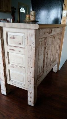 kitchen island made from old doors kitchen island made from door things l made 9410
