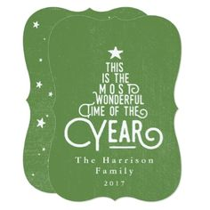 ITS THE MOST WONDERFUL TIME OF THE YEAR. CARD - christmas cards merry xmas family party holidays cyo diy greeting card