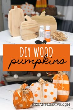 DIY CRAFT KIT how to paint your standing wood pumpkin cut outs. This craft is perfect for you to DIY for your rustic fall decor. decor diy crafts DIY CRAFT KIT, how to paint your wood pumpkin cut outs to complete your rustic fall decor — Megan plus FIVE Design Crafts, Decor Crafts, Diy Wood Crafts, Painted Wood Crafts, Rustic Crafts, Rustic Fall Decor, Dyi Fall Decor, Fall House Decor, Fall Decorations Diy