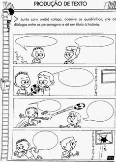 Educar X: Produção de texto para o 3° ano ensino fundamental Sequencing Pictures, Story Sequencing, Inference Pictures, Picture Writing Prompts, Paragraph Writing, Dialogue Writing, English Activities, English Lessons, Writing Skills