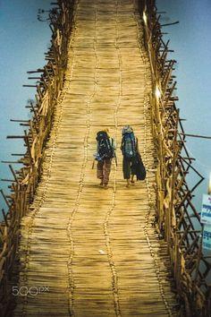 Bamboo Bridge . Cambodia