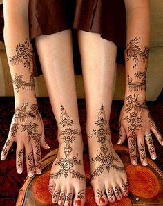 Persian henna design