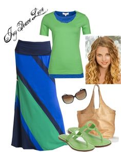"""""""Simple Color Blocking"""" by audge999 ❤ liked on Polyvore"""