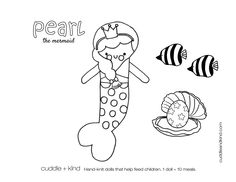 cuddle+kind pearl the mermaid colouring sheet. www.cuddleandkind.com Easy Coloring Pages, Coloring Sheets For Kids, Printable Coloring Sheets, Coloring Books, Colouring Sheets, Kids Coloring, Toddler Crafts, Kids Crafts, Chocolate Bouquet Diy
