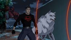 Young Justice. Superboy and Wolf