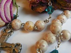Rosaries made with YOUR special dried flowers by EmbracedJewelry