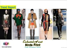 Enchanted Forest Birds #Prints#Fashion Trend for Fall Winter 2014 #Fall2014 #FW014 #Trends
