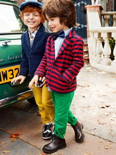Boy fashion POP of color!