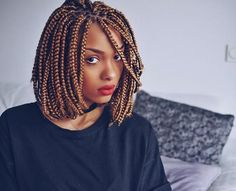 Box braids are one of the most unique and chic hairstyles for black women, it looks great both on short haircuts. Want to see the hairstyles with box braids? Box Braids Hairstyles, African Hairstyles, Protective Hairstyles, Protective Styles, Amazing Hairstyles, Modern Hairstyles, Hairstyles 2016, Fancy Hairstyles, Hairdos