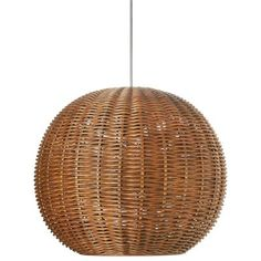 Pirhan Wicker 1-Light Globe Pendant