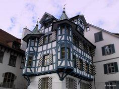 Blue, white and pitoresque - Sankt Gallen, Switzerland.