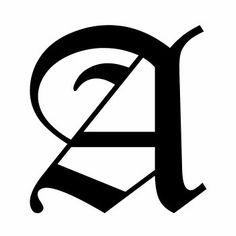 LETTERA A | Tatuaggio lettera A stile gotico
